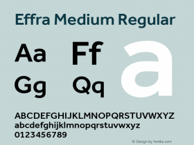 Effra Medium Regular Version 1.112 Font Sample