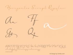 Horizontes Script Regular Version 1.000 Font Sample