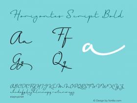 Horizontes Script Bold Version 1.000 Font Sample