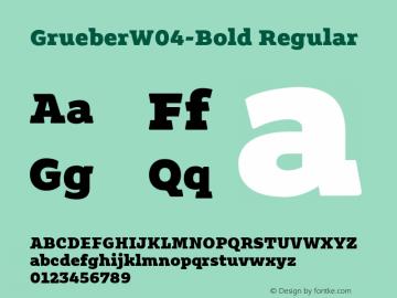 GrueberW04-Bold Regular Version 1.10图片样张