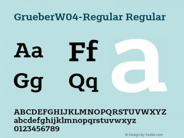 GrueberW04-Regular Regular Version 1.10图片样张