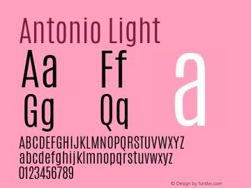 Antonio Light Version 1 ; ttfautohint (v0.94.20-1c74) -l 8 -r 50 -G 200 -x 0 -w