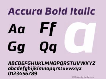 Accura Bold Italic Version 1.001;PS 001.001;hotconv 1.0.70;makeotf.lib2.5.58329图片样张