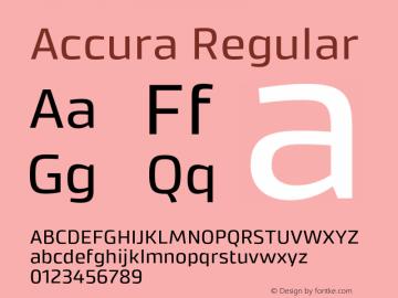 Accura Regular Version 1.001;PS 001.001;hotconv 1.0.70;makeotf.lib2.5.58329图片样张