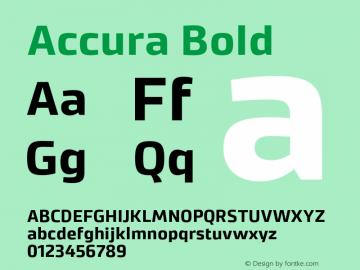 Accura Bold Version 1.001;PS 001.001;hotconv 1.0.70;makeotf.lib2.5.58329图片样张