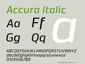 Accura Italic Version 1.001;PS 001.001;hotconv 1.0.70;makeotf.lib2.5.58329图片样张