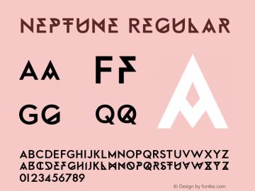 Neptune Regular Version 1.000 Font Sample