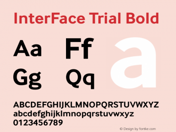 InterFace Trial Bold Version 2.001图片样张