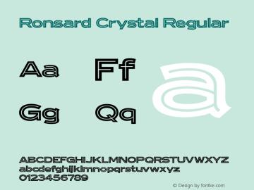 Ronsard Crystal Regular Version 1.000图片样张