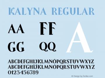 Kalyna Regular Version 1.008图片样张