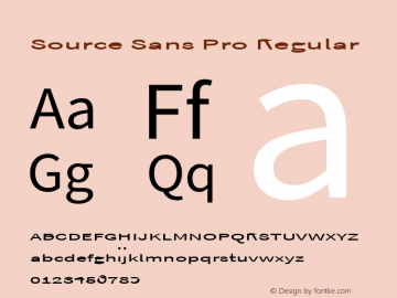 Source Sans Pro Regular Version 1.050;PS Version 1.000;hotconv 1.0.70;makeotf.lib2.5.5900 Font Sample