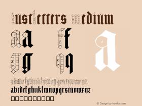 JustLetters Medium Version 002.000  Font Sample