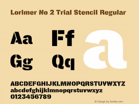 Lorimer No 2 Trial Stencil Regular Version 1.001 Font Sample