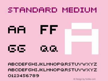 Standard Medium 001.000 Font Sample