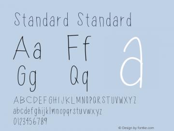 Standard Standard Version 001.000 Font Sample