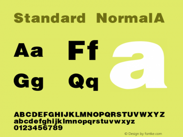 Standard NormalA Version 1.000图片样张