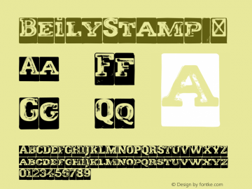 BeilyStamp ☞ Version 1.000;com.myfonts.easy.eurotypo.beily.stamp.wfkit2.version.4bPk图片样张