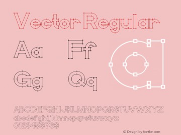 Vector Regular Macromedia Fontographer 4.1.5 11/3/01图片样张