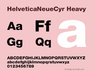 HelveticaNeueCyr Heavy 001.000图片样张
