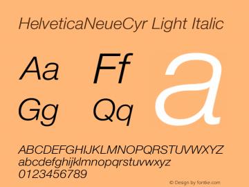 HelveticaNeueCyr Light Italic 001.000图片样张