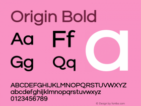 Origin Bold Version 1.00 2014图片样张