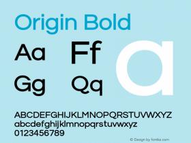 Origin Bold Version 1.000;PS 001.001;hotconv 1.0.56图片样张