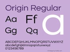 Origin Regular Version 1.000;PS 001.001;hotconv 1.0.56图片样张