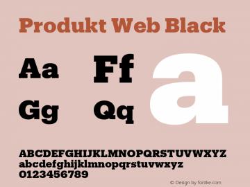 Produkt Web Black Version 1.1 2014 Font Sample