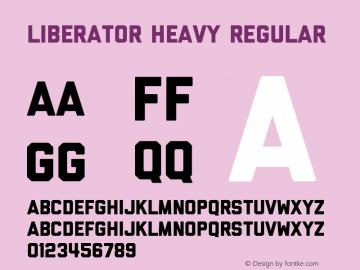 Liberator Heavy Regular Version 1.000图片样张