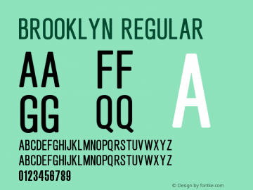Brooklyn Regular Version 1.00 November 7, 2014, initial release图片样张