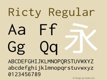 Ricty Regular Version 3.2.2图片样张