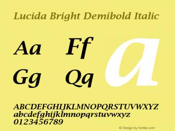 lucida bright demibold italic