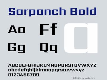 Sarpanch Bold Version 2.000;PS 1.0;hotconv 1.0.79;makeotf.lib2.5.61930 Font Sample