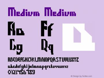 Medium Medium Version 2.000 Font Sample