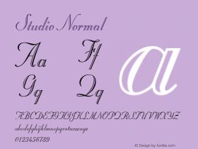 Studio Normal 1.0 Tue Oct 30 15:36:20 2001 Font Sample