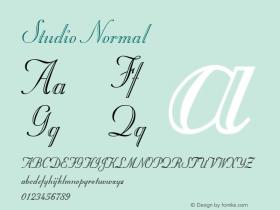 Studio Normal Altsys Fontographer 4.1 6/10/96 Font Sample