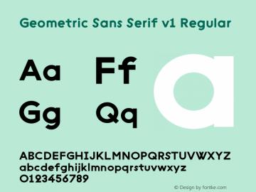 Geometric Sans Serif v1 Regular Unknown图片样张