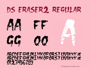 DS Eraser2 Regular Version 001.000 Font Sample