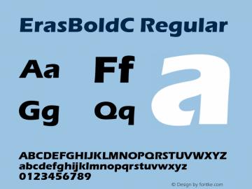 ErasBoldC Regular OTF 1.0;PS 001.000;Core 116;AOCW 1.0 161 Font Sample