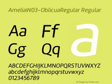 AmeliaW03-OblicuaRegular Regular Version 1.10图片样张