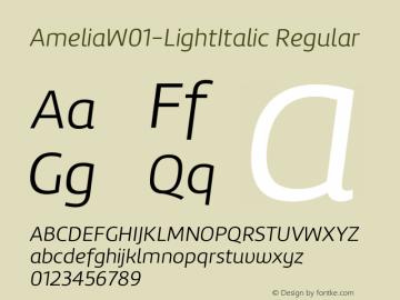 AmeliaW01-LightItalic Regular Version 1.10 Font Sample