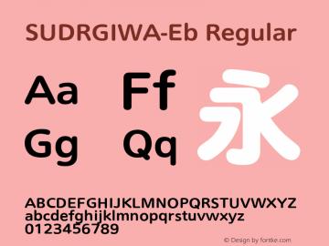 SUDRGIWA-Eb Regular Version 004.20 2009/9/3图片样张