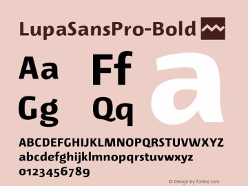 LupaSansPro-Bold ☞ Version 1.001;com.myfonts.easy.mellediete.lupa-sans-pro.bold.wfkit2.version.43HA Font Sample