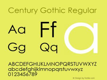 Century Gothic Regular Version 2.35 Font Sample