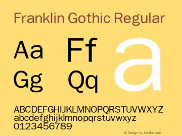 Franklin Gothic Font,Franklin Gothic Regular Font,FranklinBook Font