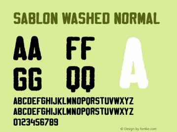Sablon Washed Normal Version 001.000图片样张