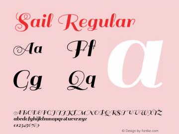 Sail Regular Version 1.002 Font Sample