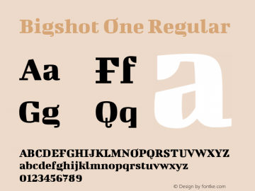 Bigshot One Regular Version 1.000 Font Sample