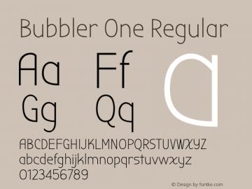 Bubbler One Regular Version 1.001 Font Sample