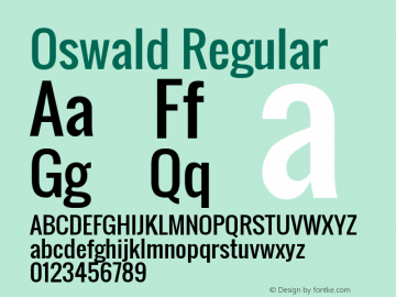 Oswald Regular Version 2.002; ttfautohint (v0.92.18-e454-dirty) -l 8 -r 50 -G 200 -x 0 -w